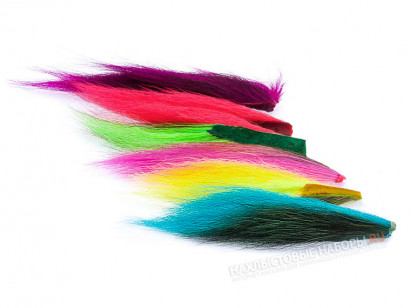 Набор хвостов оленя WAPSI Bucktail Assortment Six Fluo Colors