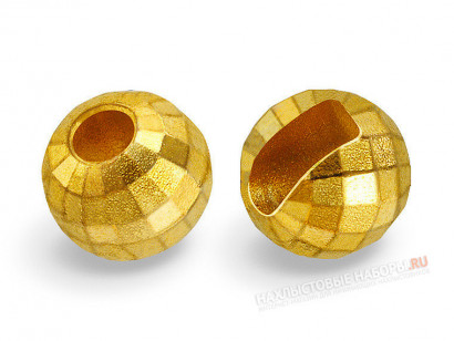 Вольфрамовые головки FLY-FISHING Faceted Slotted Tungsten Beads Gold