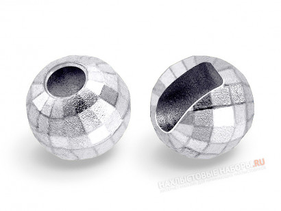 Вольфрамовые головки FLY-FISHING Faceted Slotted Tungsten Beads Silver
